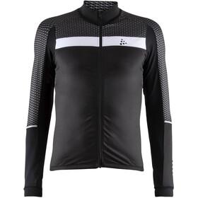 Craft Route Fietsshirt lange mouwen Heren grijs/zwart